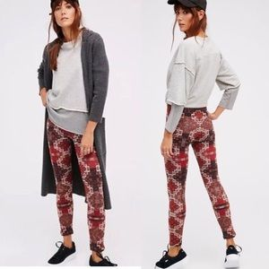 Free People Byzantine High Rise Printed Leggings